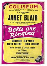 "Janet Blair ""BELLS ARE RINGING"" Jule Styne / Comden & Green 1957 London Flyer"
