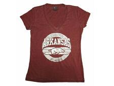 Knights Apparel Womens Shorts Sleeve Razorbacks Arkansas State Tee Shirt, Maroon