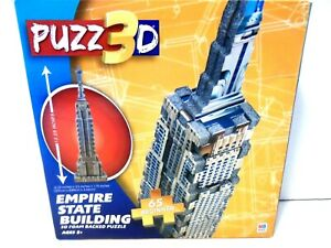 PUZZ 3D  - MB PUZZLE EMPIRE STATE BUILDING BEGINNER 65 PIECES (NEW)