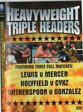 HEAVYWEIGHT TRIPLE HEADER - LEWIS VS MERCER, HOLYFIELD VS CZYZ ETC. BOXING DVD