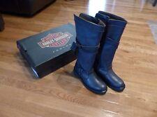 Harley Davidson Women Boots 83660 Cyndie Size 6 -  6 1/2 Slate Black Boots