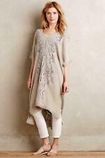 Anthropologie Knitted & Knotted Navan Crochet Caftan Tunic Beige M L sweater
