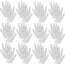 12 Pairs Cotton White Gloves General Purpose ECZEMA COINS Lining Gloves,ONE SIZE