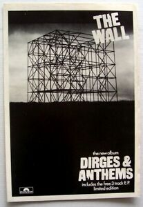 THE WALL 1982 PROMO ADVERT DIRGES AND ANTHEMS Punk