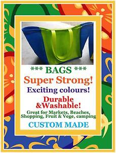 SUPER STRONG Lightweight Washable Durable Market Beach Shopping BAGS ManyCOLOURS