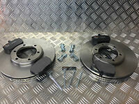 LONDON TAXI TX1 TX2 FRONT BRAKE DISCS PADS & FITTING KIT OE REPLACEMENT
