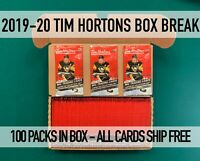87% GONE 100 PACKS 19-20 TIM HORTONS Random teams-All cards ship-Free shipping!