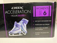 Dbx Acceleration Ice Figure Skates Size 6 Purple & Silver New