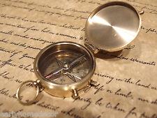"Vintage Antique Style 2"" Brass Heavy Maritime Navigational Compass"
