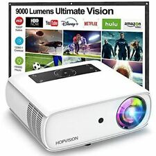 9000Lux Movie Projector with150000 Hours LED Lamp Life for Smartphone/ PC/Laptop