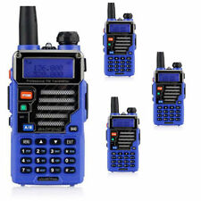 4x Baofeng UV-5R Plus Qualette Blue Dual Band VHF/UHF Two-way Amature Ham Radio