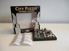 Binary Arts City Block Puzzle The Builders Challenge Sculpted Metal Skyscraper