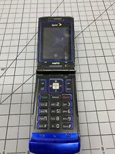 Sanyo Katana SCP-6600 Blue Sprint Cell Phone Bluetooth w/Home Car