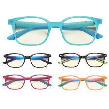 Children Anti Blue Light Square Glasses Double Colors Frame Computer Eyeglasses