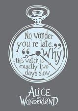 Alice in Wonderland Watch P Blue -Typography quote Decorative Vinyl Wall Sticker
