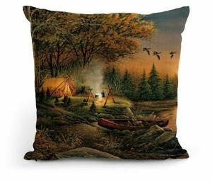 """Evening Solitude 18"""" Decorative Pillow by Terry Redlin"""