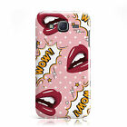 POPART PINK POLKA DOT LIPS RETRO CASE COVER FOR SAMSUNG GALAXY MOBILE PHONES
