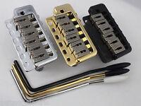 WILKINSON WVP6 TREMOLO BRIDGE + Stainless Steel Saddles in Chrome, Black or Gold