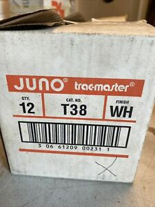 12 Juno Trac-Master T38-WH White  Straight End Feed  Connector  New in Box   NOS