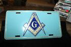 "Mason Masonic Lodge Freemason Blue Gold 6""x12"" Aluminum License Plate Tag"