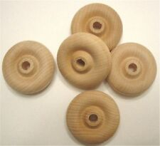 100 Wood Toy Wheels 1-1/2 Inch Diameter Smooth Hardwood Wheel for toys & crafts