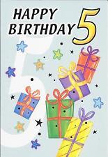 5th BIRTHDAY CARD - AGE 5 - PRESENTS