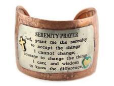 """Wide 3 Tone Copper Color """"Serenity Prayer"""" Cuff Bracelet"""