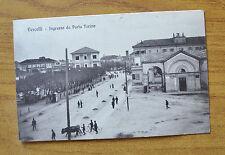 CARTOLINA VERCELLI INGRESSO DA PORTA TORINO RARA VIAGGIATA 1916 SUBALPINA ZZ