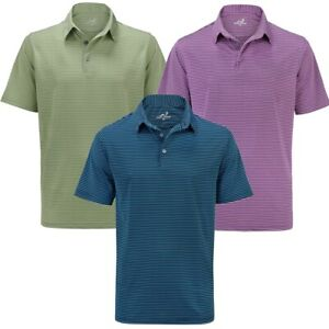Woodworm Golf Feeder Stripe Polo Shirt 3 Pack Mens