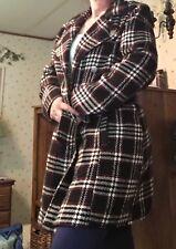 bb dakota plaid dress coat size extra large