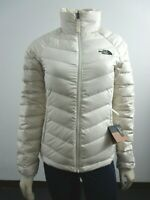 Womens The North Face TNF Flare Full Zip 550-Down Winter Packable Jacket - White