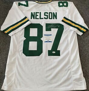 JORDY NELSON AUTOGRAPHED SIGNED G.B. PACKERS JERSEY BECKETT COA