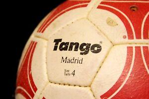 ADIDAS SOCCER MATCH BALL FOOTBALL FIFA WORLD CUP TANGO MADRID USED S4 RED RARE