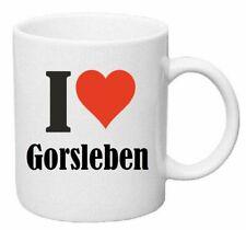 Kaffeetasse I Love Gorsleben Keramik Höhe 9,5cm in Weiß