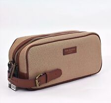 TED BAKER LONDON Large Weekend Sports toiletry leather strap Wash Bag dopp kit