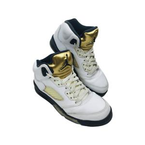 Nike Air Jordan White Multicolor hightop Sneakers Youth Size 5