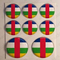 Pegatinas Republica Centroafricana Pegatina Bandera Relieve 3D Vinilo Adhesivo