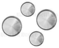 4 FOUR HOB COVERS METAL SILVER CHROME ELECTRIC COOKER PROTECTOR RING LID SET 07B