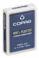COPAG PLAYING CARDS  - 100% Plastic - POKER single deck Jumbo Index