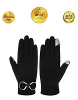 Women's Touch Screen Lined SmarTouch eTip Touchscreen Winter Gloves Black