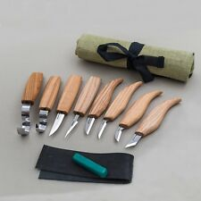 Wood Carving Knives HIGH-QUALITY SET 8 Tools Hook Knife Whittling Gouges Chisel