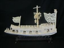 New ListingAntique Mostly Hand Made Faux Tooth Oriental Themed Naval Ship Display
