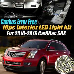 18Pc CANbus Error Free Interior LED White Light Kit for 2010-2016 Cadillac SRX