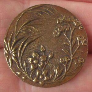 1 1/16' Antique Brass Paris Back Button