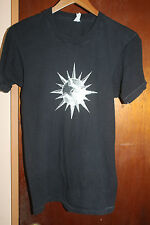 Spiked Ball Designed Men's Black T Shirt Size Medium