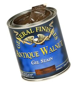 General Finishes AH Gel Stain, Half pint, Antique Walnut 1 Half-Pint