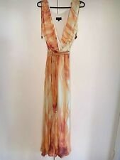 Designer, Howard Showers dress, maxi, silk, size 16, plus size, womens, fashion