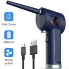 Cordless Air Duster 6000mAh Rechargeable Battery High Speed Computer 33000 RPM