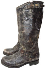 FRYE Veronica Slouch Glazed Vintage Distressed Leather Boots 7- 38