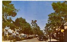 Carmel by the Sea CA  street scene 1952  used postcard